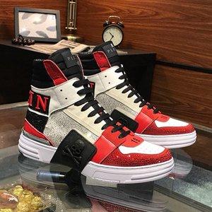 Uomo Scarpe Sneakers Casual Fashion Tenis Sport Formatori soft Sneakers alte con Origin Box Mens Chaussures calza gli stivali di lusso pour hommes