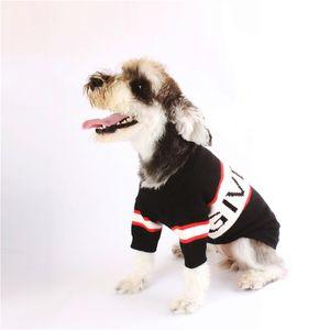 20ss letra g admiten grueso jersey de alta calidad perro de la impresión Ropa Para peluche Schnauzer Pomerania Bulldog admiten Coats