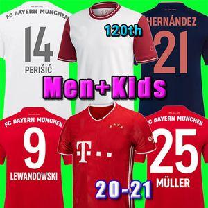 20 21 Bayern Munich COUTINHO camiseta de fútbol Lewandowski MULLER DAVIES 2020 camisetas de los hombres + Kids kit Aniversario 120 120 años MUNCHEN