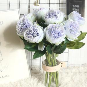 Avrupa Yapay İpek Hollandalı Şakayık Çiçeği Ana Otel Masa Dekorasyon Sahte Çiçek Düğün Sahne Dekorasyon Valentine'sDay Hediye