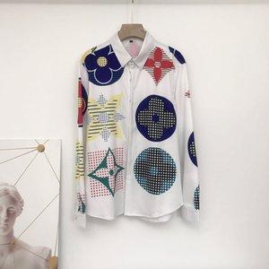 Free shipping brand new 2020 new Medusa shirt top color 3D floral print men's shirt Slim silk cotton men's long-sleeved casual shirt M-2XL