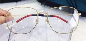 Nuevo diseñador de moda Gafas graduadas ópticas 0396 marco cuadrado estilo popular venta de alta calidad lente transparente HD