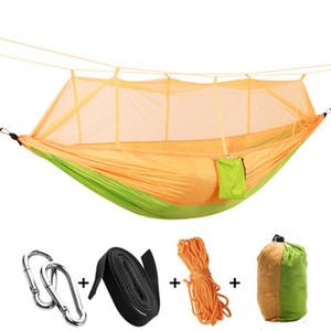12 couleurs Portable hamac avec moustiquaire simple personne Hammock Hanging lit plié dans la poche pour Voyage EEA1065-1