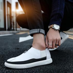 masculinos de couro Moda sapatilhas cor sólida de trabalho Work calçados casuais zapatos de hombretenis masculino adulto