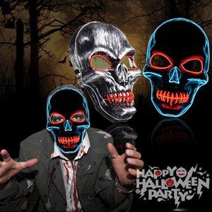 Halloween masque Masques néon LED Effrayant Crâne Squelette Horreur Masque Maske Parti Masquerade Mascara Glowing Carnaval Masker cosplay SH190922