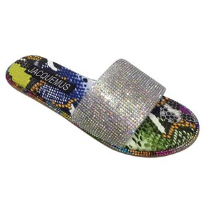 SAGACE slippers women Sandals Roman style sparkling bright diamond sandals European and American flat and slippers c16