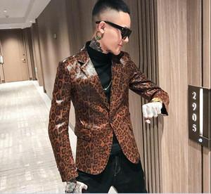 Nouvelle veste en cuir à imprimé léopard pour homme Veste en cuir Social Young pour homme A328-1970