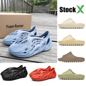 Startseite Damen Kanye West Slides LuxuxMens Hausschuhe Designer-Schuhe für Kinder Kinder Indoor Foam Runner Slipper Sandalen Schwarz Blau Weiß Resin