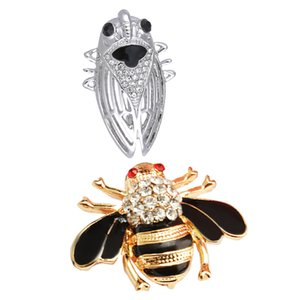 2Pcs Cute Colorful 3D Insect Cicida Bug Bee Shaped Brooch Pin for Women Men