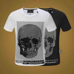 European Tide Brand Men's Ghost head Short Sleeve T-Shirt Cool Print 100% Cotton Men's Cool T-Shirt Summer Fashion Street Top