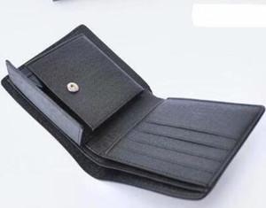مصمم الرجال قصيرة أضعاف محفظة عملة محفظة جلدية بطاقة الائتمان حامل الرجل في الهواء الطلق قصيرة أضعاف محافظ تأتي المربع الأصلي