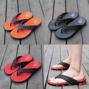 Bottom For Beach Slippers Shoes Fashion Seaside Massage Bottom Men Flip-flops Shoes Soft Non-slip Wear Summer Vacation Sandals And Bdvxh