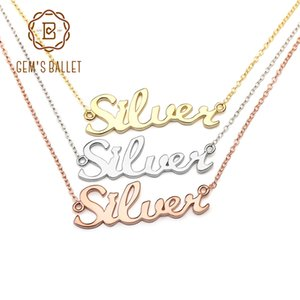 gems ballet name necklace925 sterling silver custom name necklace custom jewelry custom necklace necklace women necklaces pendants