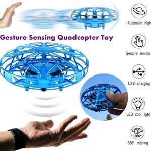 La inducción UFO Juguete de Nueva aviones de detección gesto extraño OVNI niños de juguete avión no tripulado padre-hijo 360 ° de rotación OVNI aviones no tripulados de 3 colores