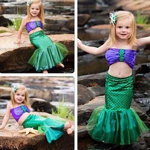 Hirigin Fashion Toddler Mermaid Girl Princess Dresses Comfort Party Cosplay Costume Girls Outfits Dropship