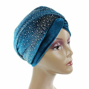 New Women Long Scarf Hat Muslim Velvet Women Inner Hijabs India Hat Turban Head Cap Hair Accessories