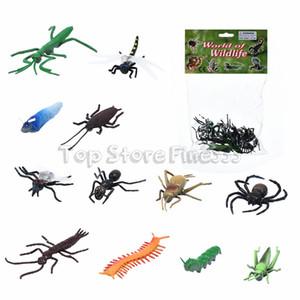 Halloween 12 teile / los gadget Kunststoff Kakerlaken Spinne Witz Dekoration Requisiten Gummi Spielzeug Gags Witze Spielzeug Kunststoff Bugs insekt