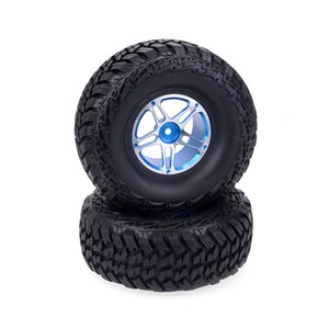 2pcs 01:10 RC Crawler Alloy 1.9inch beadlock Wheels + 118mm Pneus borracha de silicone Axial SCX10 escalada Truck Rocha # 4