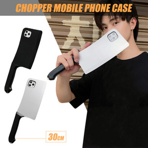 Mobile Phone Cases Personalized Silicone Phone Mobile Case Anti-Fall iPhone11pro Chopper Kitchen knife shape Covers