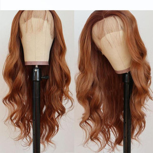 Brown Red Body Wave Lace Front Human Hair Wigs Brazilian Pre Plucked With Baby Hair 13x4 Lace Front Wig For Black Women SOKU