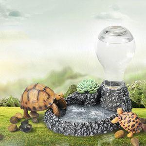 Top-Water alimentazione dispositivo bottiglia Dispenser Resin Glass Terrarium Rettile Acqua Feeder Dish Nutrire Pet Supplies Rettile animali