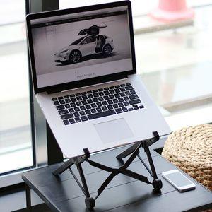 Ayarlanabilir Dizüstü MacBook Notebook Tampon Office için basit Laptop Standı Raf Portatif Katlanır Dizüstü Tutucu Stand 1 PC Malzemeleri