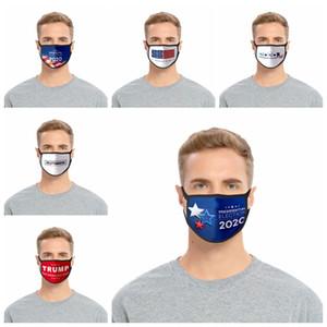 Donald Trump 2020 Maks Élection présidentielle Designer Masque adulte Mode anti-poussière Coton Soie Masques visage de la RRA3137