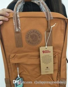 Fjallraven Kanken No.2 Leather Brick Yellow Hot Selling Style Canvas Bags New Style Popular Students Computer Bags In Stock