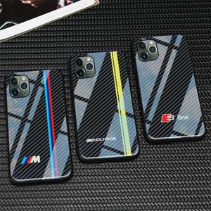 Libre TPU de lujo de envío + templado caja más nueva del teléfono SLINE RS BMW AMG DESIGNES para el iphone 11 PRO MAX cubierta casos insignia del coche