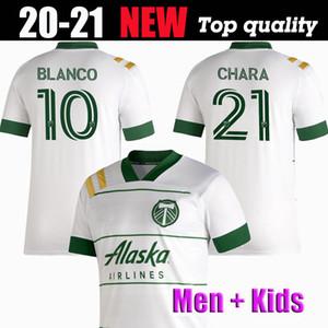 무료 배송 NEW 2020 년 2021 MLS 포틀랜드 팀 버스 남자 아이 키트 축구 유니폼 (20) (21) BLANCO CHARA 발렌틴 발레리 MEN 축구 저지 셔츠