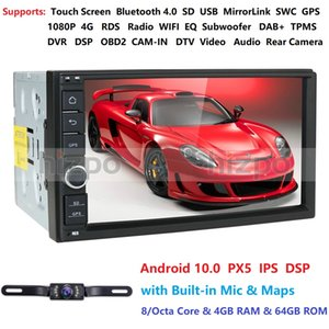 IPS DSP Android 10.0 Universal-NO DVD 2DIN Car Stereo 7 '' Auto Stereo Doppel-DIN-Autoradio Audio Head Unit 4G 64G ROM RDS Auto-DVD