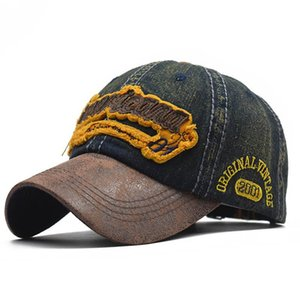 2020 fashion baseball cap embroidery letters diamond denim stitching do old washed cotton summer male outdoor