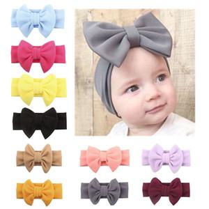 banda para el cabello Hermosa bebé grande del arco bandas para la cabeza banda de pelo de los niños niños hermosa del bebé del arco del color del caramelo chica Accesorios para el cabello libre de la manera del envío
