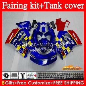 바디하고 Movistar 블루 + 탱크 스즈키 SRAD GSXR 600 750 GSX R750 R600 GSXR750 64HC.23 GSXR600 96 97 98 99 00 1996 1997 1998 1999 2000 페어링
