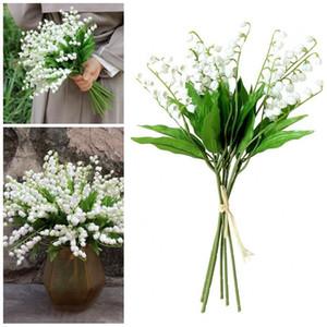 Pur White Mountain Fleur artificielle Wind Chime en plastique dur Valley Petit Lily Faux Fleurs de mariage Décorations de fête Fournitures 1 99sbE1
