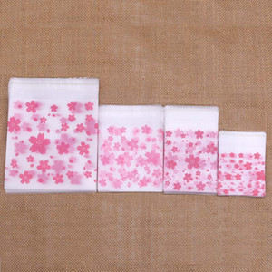 50 100pcs 4 Sizes Plastic Bags Cookie Candy Bag Self-Adhesive For Wedding Birthday Party Gift Bag Biscuit Baking Packaging Bags