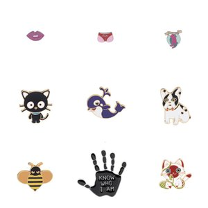 Explosive Group Sales Combine Lips Cartoon Calzoncini da bagno Balena Kitty Api Palm personalità bella Badge