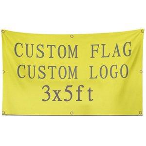 Bandeiras 3 x 5 Logo Flag Custom impresso publicidade promocional Clube Desporto Equipa Festival decorativa Custom Made