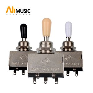 10pcs 3 Way Toggle Switch for Electric Guitar with Black and Cream Tip Free shipping MU0217