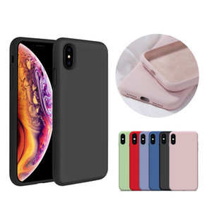 New Official 22 Colors Soft Silicone Phone Case for iPhone11 pro max 6 6s plus 7 8 plus X Xs max Xr cases Protective cover Solid Color Cover