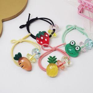2020 New coreano sveglia di modo di colore della gelatina del fumetto degli animali Fruit Rubber Band Sweet Girl Bambini semplice coda di cavallo accessori per capelli