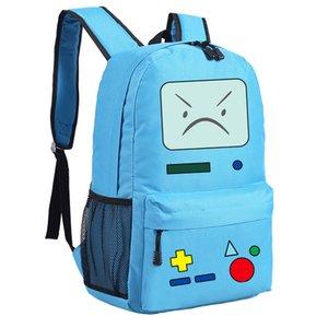 Cute BMO Adventure School Time Bags for Teenagers Girls Canvas Travel Back Pack Cartoon Laptop Bagpack Mochila Feminina Bookbag