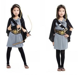Bambini Cosplay costumi di Halloween costume in maschera vestiti vestiti cacciatori Flower Girl Dress ragazza di fiore Hunter vestito G-0174