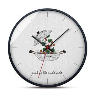 Haushalt Atmosphäre Wanduhr Mode Wanduhr Kunst Moderne Minimalist Stille Clock für Schlafzimmer
