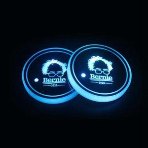 Trump Кубок Pad LED Acrylic Подстаканники американский президент Выборы Красочные Luminous Cup Маты Козырь автомобилей Нескользящая Мат LJJO7979