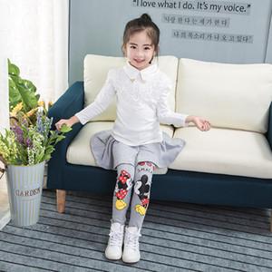 Chica lindo legging calientes polainas invierno muchacha de la falda de la torta del bebé pantalones de la falda de la historieta de las muchachas de la falda pantalón bootcut de los niños para 2-7T