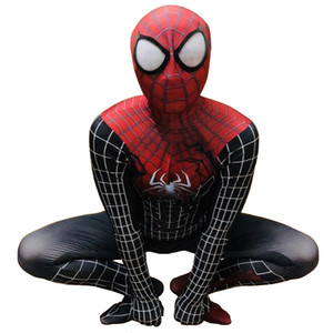 Men's Special Service Red Muscle Spiderman Tights Handsome Symbiote Venom Spider Siamese Tights Spiderman cosplay suit
