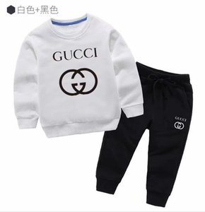 2019 العلامة التجارية ملابس الأطفال الصبي بدلة بأكمام طويلة جديد الطفل الرضيع bodfe201clothes قطعتين مجموعة 2-9 سنة الربيع المد الدعاوى oirer256