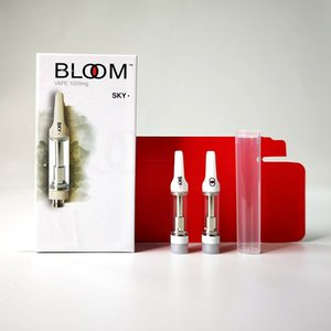 Bloom Cartridges leeren Vape Pen Cartridge Verpackung 0,8 ml Keramik Coil Glaswanne Carts 510 Gewinde Atomizer Vaporizer