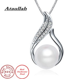 Ataullah Real Natural Freshwater Pearl Pendant Necklace Silver 925 Jewelry Valentine's Gift for Woman DIY Necklaces PW002